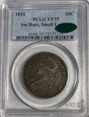 United States: 1834 50 Cent Small Date, Small Letters PCGS VF35 CAC