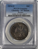 United States: 1854O 50 Cent Arrows PCGS AU Cleaned
