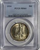 United States: 1934 50 Cent PCGS MS64