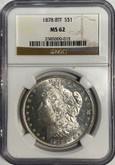 United States: 1878 Morgan Dollar 8 Tail Feathers NGC MS62