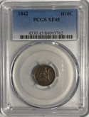 United States: 1842 5 Cent Silver PCGS XF45