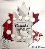 Canada: 2017 Our Past Our Future Stand-Up Cardboard Coin Holder