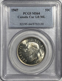 Canada: 1947 50 Cent Maple Leaf Straight PCGS MS64
