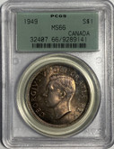 Canada: 1949 $1 PCGS MS66 Green Label