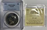 Canada: 1951 $1 Arnprior PCGS / ICCS MS64
