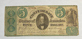 United States: 1861 $5 Confederate States of America Richmond T33 Contemporary Counterfeit