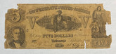 United States: 1861 $5 Confederate States of America Richmond T37