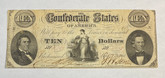 United States: 1861 $10 Confederate States of America Richmond T25