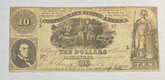 United States: 1861 $10 Confederate States of America Richmond T30
