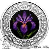 Canada: 2020 $3 Floral Emblems of Canada - Quebec: Blue Flag Iris Fine Silver Coin