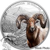 Canada: 2020 $30 Imposing Icons: Bighorn Sheep 2 oz Pure Silver Coin