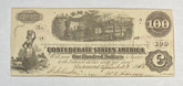 United States: 1862 $100 Confederate States of America Richmond T40