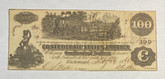 United States: 1862 $100 Confederate States of America Richmond T40 with note on back