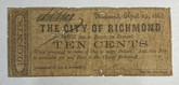 United States: 1862 10 Cents The City of Richmond