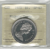 Canada: 1973 Nickel Dollar ICCS SP67 Cameo
