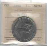 Canada: 1982 Nickel Dollar ICCS MS65