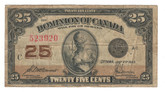 Canada: 1923 25 Cent Banknote Dominion of Canada DC-24c Lot#123