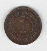 British Honduras: 1909 One Cent