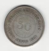 Straits Settlements: 1891 50 Cent