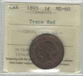 Canada: 1895 Large Cent ICCS MS60 Trace Red