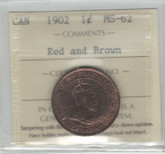 Canada: 1902 1 Cent ICCS MS62 Red & Brown