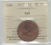 Canada: 1907 1 Cent ICCS MS64 Red