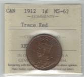 Canada: 1912 1 Cent ICCS MS62 Trace Red