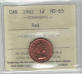Canada: 1961 Cent ICCS PL65 Red