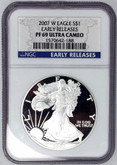 United States: 2007 American Silver Eagle Early Releases NGC PF69 Ultra Cameo