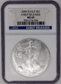 United States: 2006 American Silver Eagle Early Releases NGC MS69