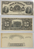 Canada: 1891 $50 Proof Banknotes - The Bank of Montreal