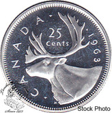 Canada: 1963 25 Cent Proof Like