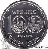 Canada: 1974 $1 Attached Jewel Proof Like