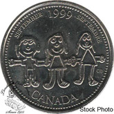 Canada: 1999 25 Cent September Proof Like