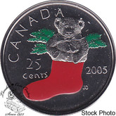 Canada: 2005P 25 Cent Stocking Proof Like
