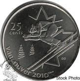 Canada: 2007 25 Cent Alpine Skiing BU