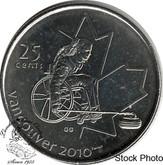 Canada: 2007 25 Cent Wheelchair Curling BU