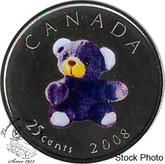 Canada: 2008 25 Cent Teddy Bear Proof Like