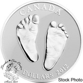 Canada: 2012 $10 Baby Feet (Welcome to the World) Pure Silver Coin