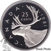 Canada: 1981 25 Cent Proof