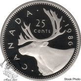 Canada: 1986 25 Cent Proof