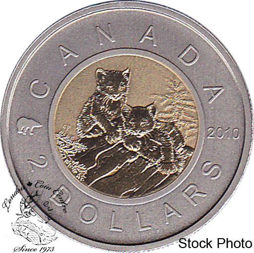2010 Canada Specimen Young Lynx Special $2 Coin