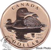 Canada: 2012 $1 Common Loon Loonie Specimen