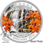 Canada: 2014 $20 Autumn Falls #2 in Series Coloured Silver Coin