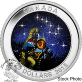 Canada: 2015 $25 Star Charts: The Quest Glow-in-the-Dark Silver Coin
