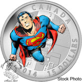 Canada: 2014 $15 Iconic Superman Comic Book Covers: Action Comics #419 from 1972 Coloured Silver Coin