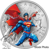 Canada: 2014 $20 Iconic Superman Comic Book Covers: Superman Annual #1 from 2012 Coloured Silver Coin