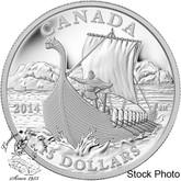 Canada: 2014 $15 Exploring Canada The Vikings Silver Coin
