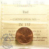 Canada: 1977 1 Cent ICCS MS66 Red Coin nr 3