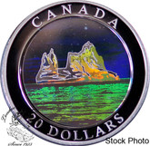 Canada: 2004 $20 Natural Wonders - Icebergs Hologram Silver Coin